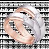 Nhẫn cưới Kim cương PNJ Tình Hồng Vàng 18K