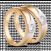 Nhẫn cưới PNJ Chung Đôi Vàng 18K đính đá ECZ Swarovski