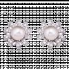Bông tai PNJ Vàng trắng 14K đính ngọc trai Akoya