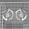 Bông tai PNJ Vàng trắng 10K đính đá ECZ Swarovski