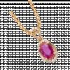 Mặt dây chuyền PNJ Vàng 18K đính đá Ruby