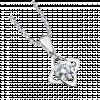 Mặt dây chuyền PNJ Vàng trắng 10K đính đá ECZ