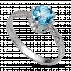 Nhẫn PNJ Vàng trắng 14K đính đá Topaz 72518.600
