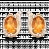 Bông tai PNJ Phượng Hoàng Vàng 18K đính đá Citrine