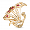 Nhẫn PNJ Phượng Hoàng Vàng 18K đính đá Ruby