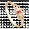 Vòng Tay PNJ Phượng Hoàng Vàng 18K đính đá Ruby