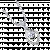 Mặt dây chuyền PNJ Vàng trắng 10K đính đá ECZ Swarovski