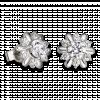 Bông tai cưới PNJ Giọt Sương Mai Vàng trắng 10K đính đá ECZ 85936.100