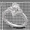 Nhẫn Kim Cương PNJ First Diamond Vàng Trắng 14K 87603.503