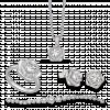 Bộ trang sức PNJ Galaxy Vàng trắng 10K đính đá ECZ