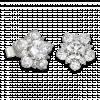 Bông tai PNJ Galaxy Vàng trắng 10K đính đá ECZ 87688.100