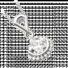 Mặt dây chuyền PNJ Galaxy Vàng trắng 10K đính đá ECZ 87700.100