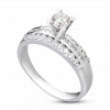 Nhẫn Kim Cương PNJ Vàng trắng 14K 60679.579