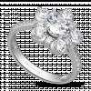 Nhẫn PNJ Galaxy Vàng trắng 10K đính đá ECZ 87690.100