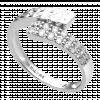 Nhẫn PNJ vàng trắng Ý 18K