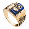 Nhẫn Nam PNJ Vàng 10K đính đá màu xanh