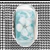 Hạt charm DIY PNJSilver hình dẹt tròn màu xanh hoa văn