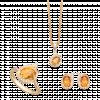 Bộ trang sức PNJ Phượng Hoàng Vàng 18K đính đá Citrine
