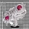 Nhẫn PNJ Phượng Hoàng Vàng trắng 14K đính đá Ruby