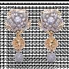 Bông tai PNJ Vàng 18K đính đá ECZ 80267.102