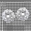 Vỏ bông tai kim cương PNJ vàng trắng 18K