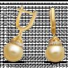 Bông tai PNJ Vàng 18K đính ngọc trai South Sea 91279.302