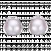Bông tai PNJ vàng trắng 14K đính đá Ngọc trai Akoya