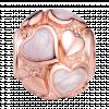 Hạt charm DIY PNJSilver hình tròn họa tiết trái tim