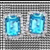 Bông tai PNJ Vàng trắng 14K đính đá Topaz 70199.600