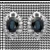Bông tai PNJ Vàng trắng 14K đính đá Sapphire 72637.600