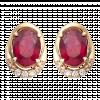 Bông tai PNJ Vàng 18K đính đá Ruby 72513.600