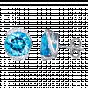 Bông tai PNJ Vàng trắng 14K đính đá Topaz