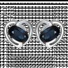 Bông tai PNJ vàng trắng 14K đính Sapphire