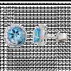 Bông tai PNJ Vàng trắng 14K đính đá Topaz 72642.600
