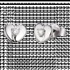 Bông tai Kim Cương PNJ First Diamond Vàng trắng 14K 85213.500