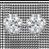Bông tai PNJ Vàng trắng 10K đính đá ECZ 73282.106