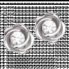 Bông tai PNJ Vàng trắng 10K đính đá ECZ
