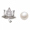 Bông Tai PNJ Hoa Sen Vàng trắng 14K 84191.601