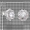 Bông tai PNJ Vàng trắng 10K đính đá ECZ 84562.100