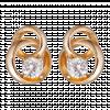 Bông tai PNJ Vàng 18K đính đá CZ 47184.102