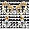 Bông tai PNJ Vàng 18K đính đá CZ 59814.102