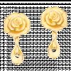 Bông tai cưới PNJ Duyên Phượng Tình Hồng Vàng 24K