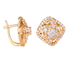 Bông tai PNJ Vàng 14K đính đá CZ 82916.100