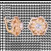 Bông tai PNJ Vàng 14K đính đá CZ 83101.101