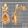 Bông tai PNJ Mystery Vàng 18K đính đá Citrine 78373.600