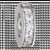 Hạt Charm Me PNJ Vàng trắng Ý 18K hình tròn dẹt đính đá 83164.100