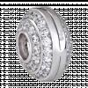 Hạt Charm Me PNJ Vàng trắng Ý 18K hình tròn dẹt đính đá 83245.100