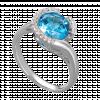 Nhẫn PNJ Vàng trắng 14K đính đá Topaz 75123.600