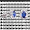 Bông tai bạc PNJSilver đính đá màu xanh
