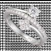Nhẫn kim cương PNJ vàng trắng 14K